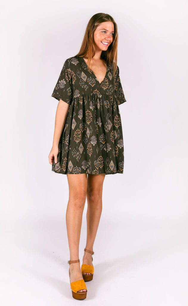 western ways printed tunic - olive