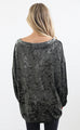 what a feeling velvet top - olive