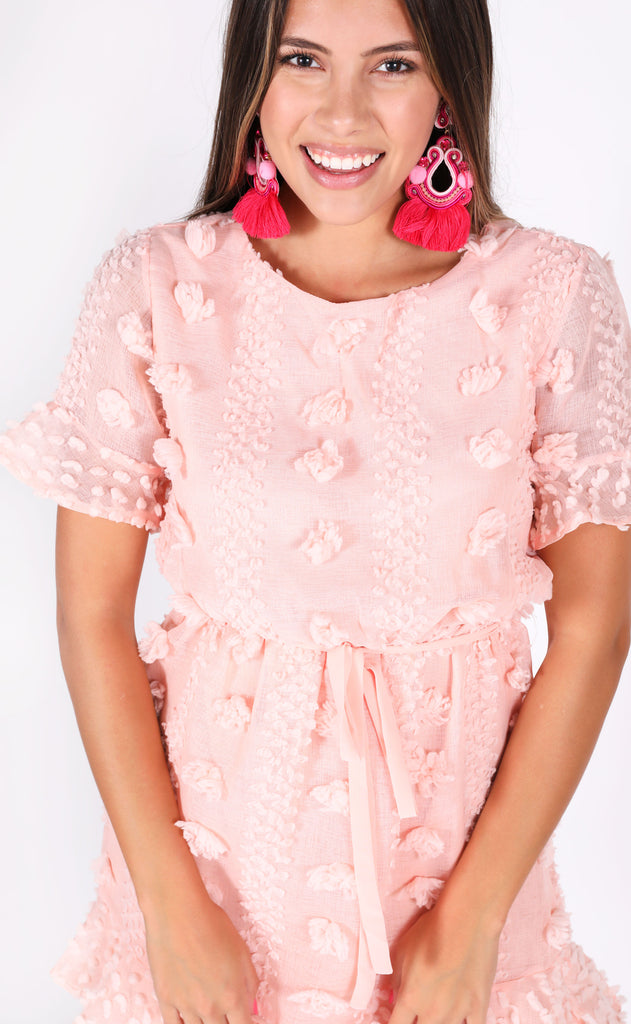 what about love mini dress - blush