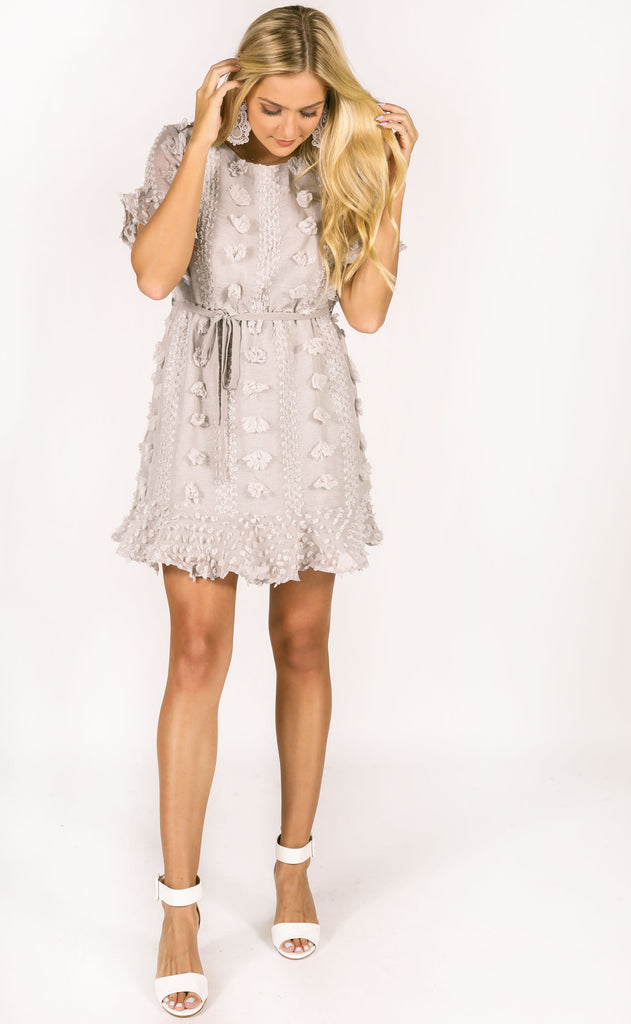 what about love mini dress - grey