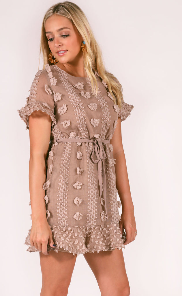 what about love mini dress - mocha