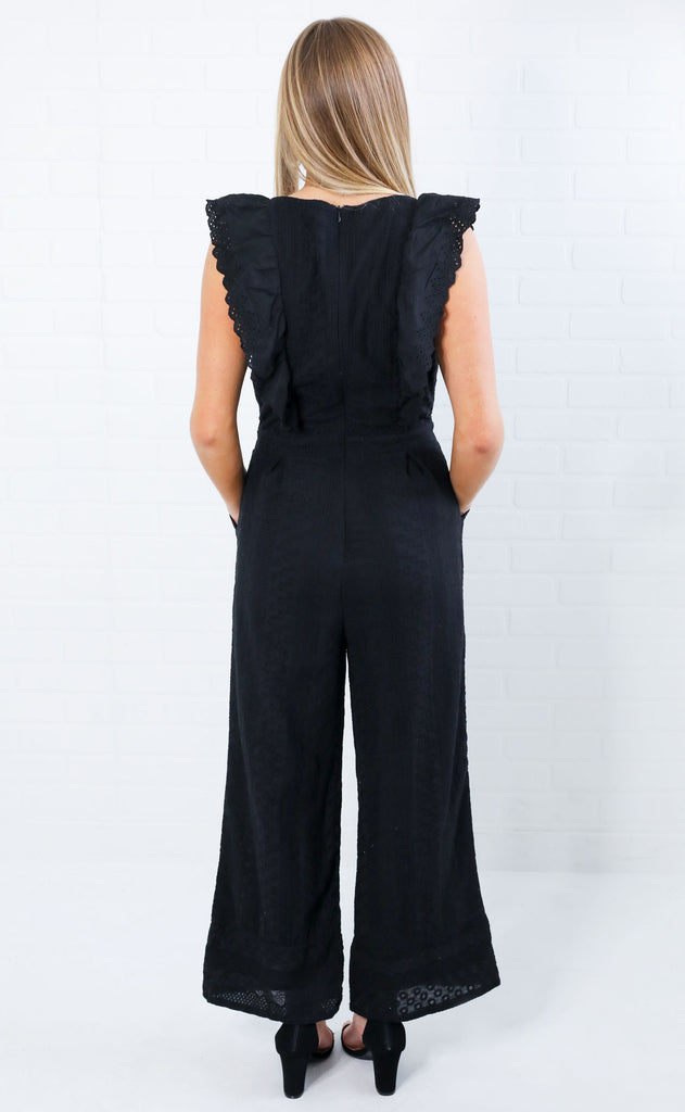 when in rome eyelet jumpsuit