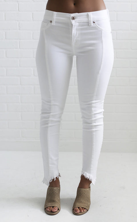 white out crop skinny jeans