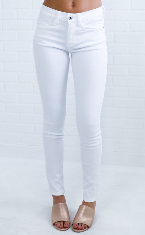 white out skinny jeans
