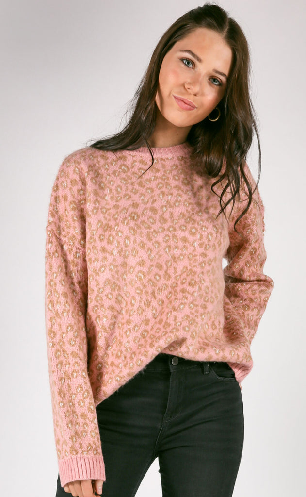 wild child leopard sweater