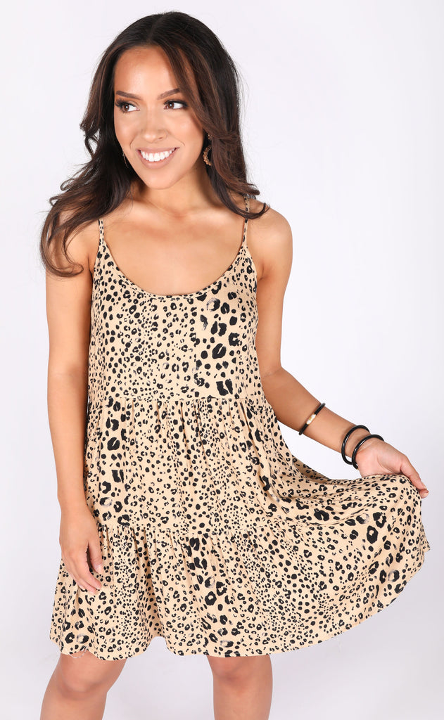 wild instincts leopard dress