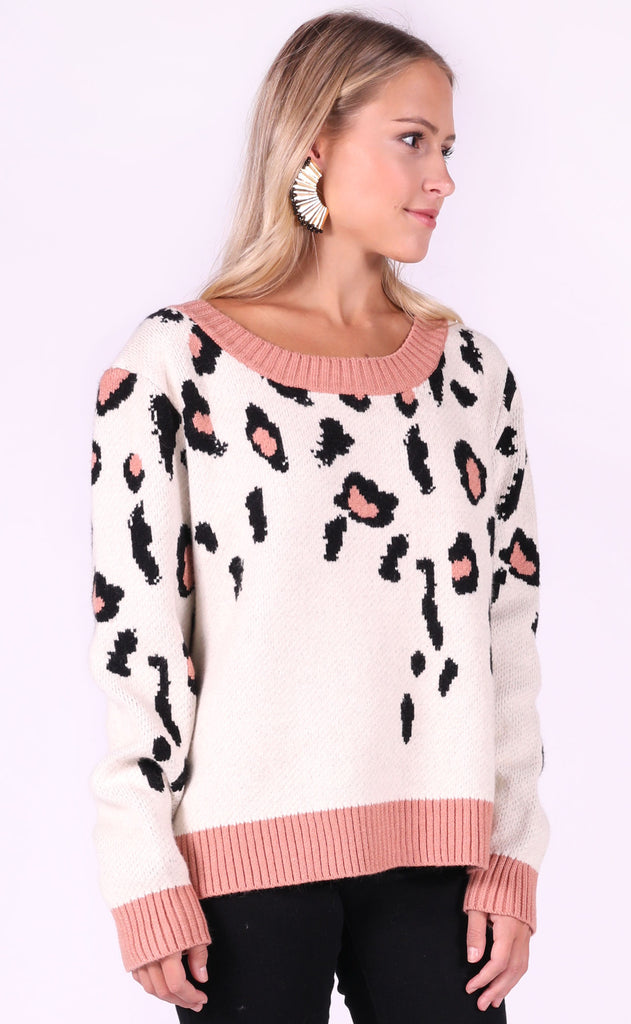 wild one leopard sweater