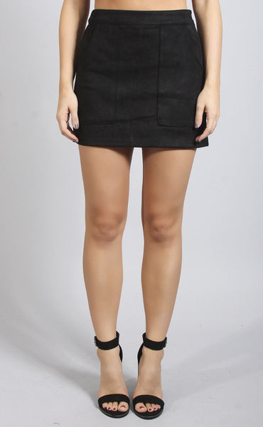 wild thing suede mini skirt