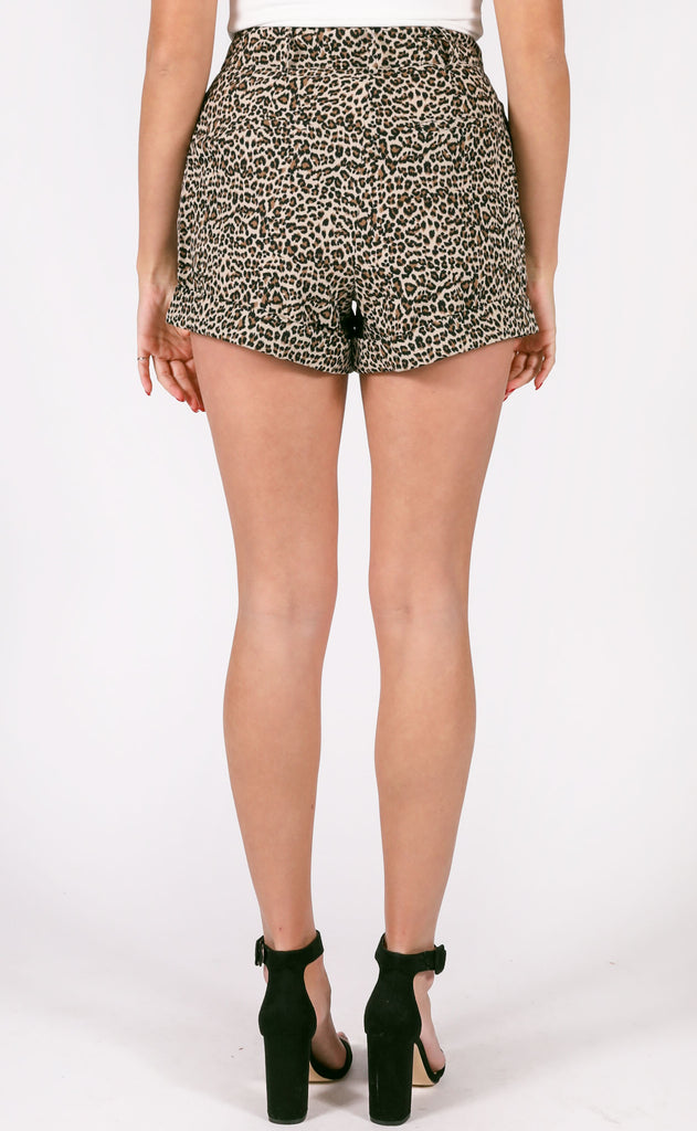 wild thing leopard shorts