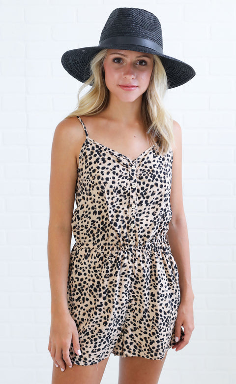 wild thing printed romper