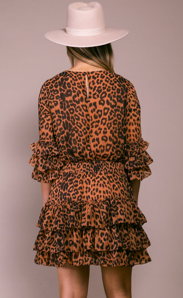 wild cat leopard dress