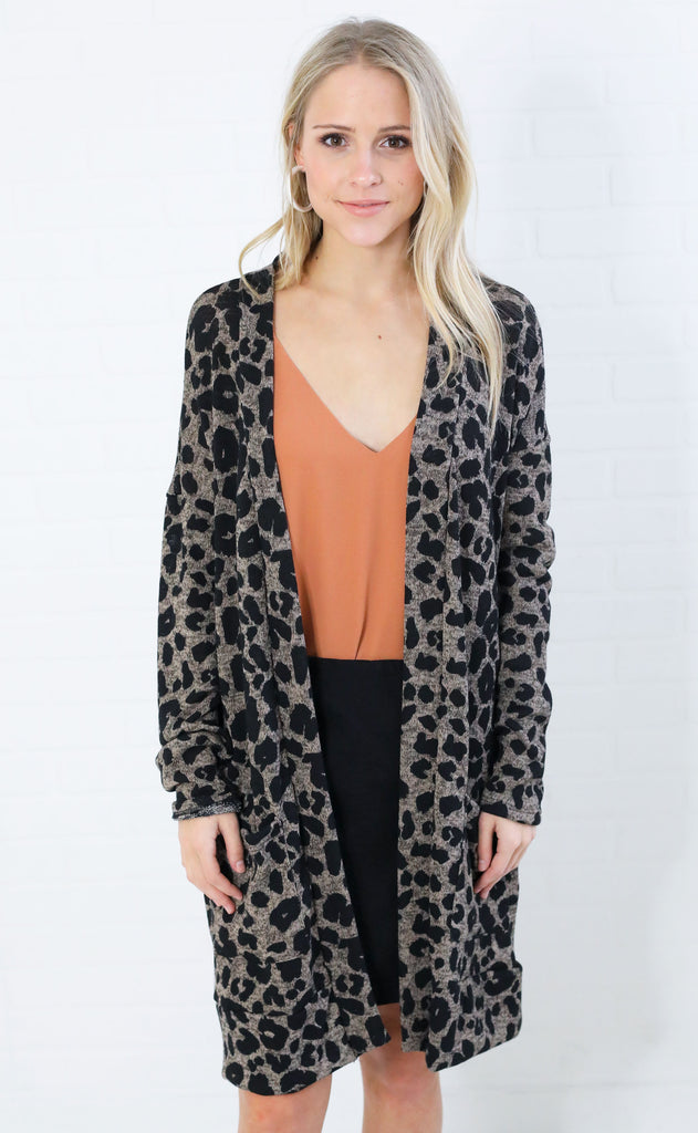 wild cat pocket cardigan