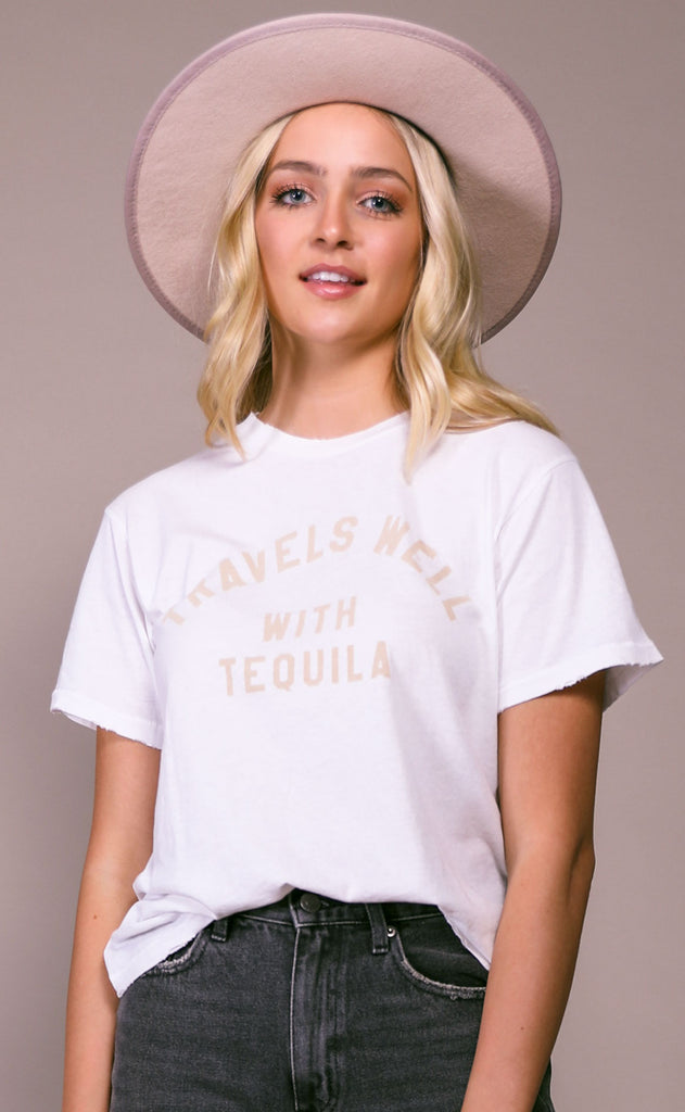 wildfox: baby jersey tee - con tequila