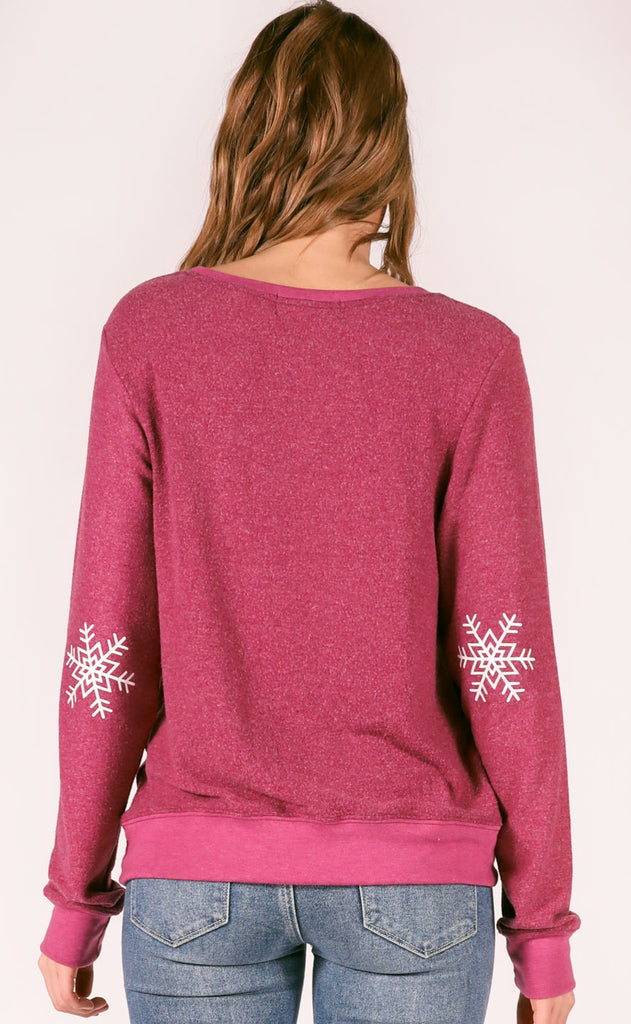 wildfox: baggy beach jumper - snow good