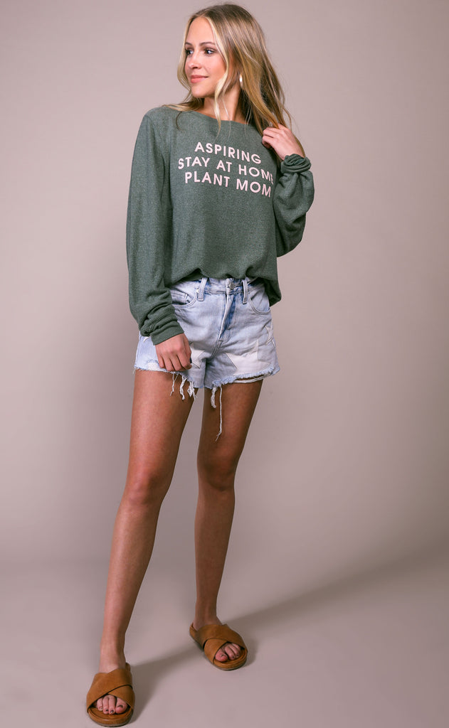 wildfox: baggy beach jumper - plant mom