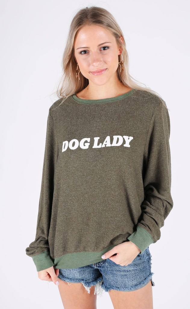 wildfox: baggy beach jumper - dog lady