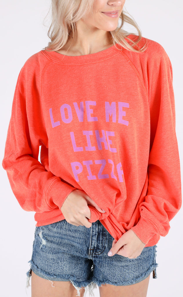 wildfox: sommers sweater - love me like pizza