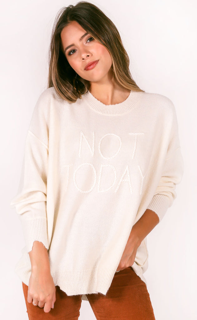 wildfox: omen sweater - not today