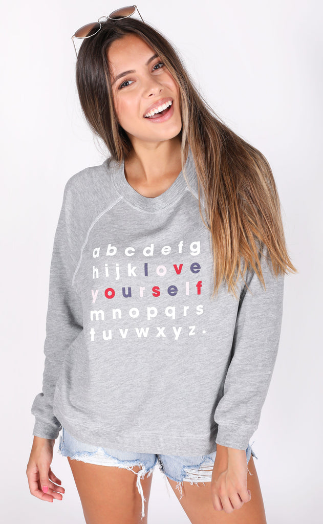 wildfox: sommers sweater - love yourself