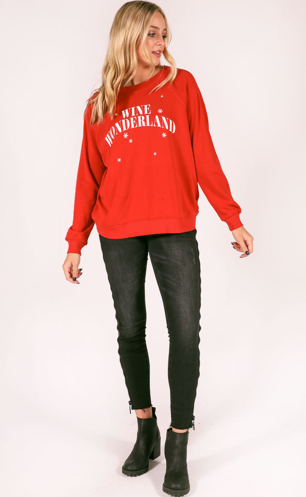 wildfox: sommers sweater - wine wonderland