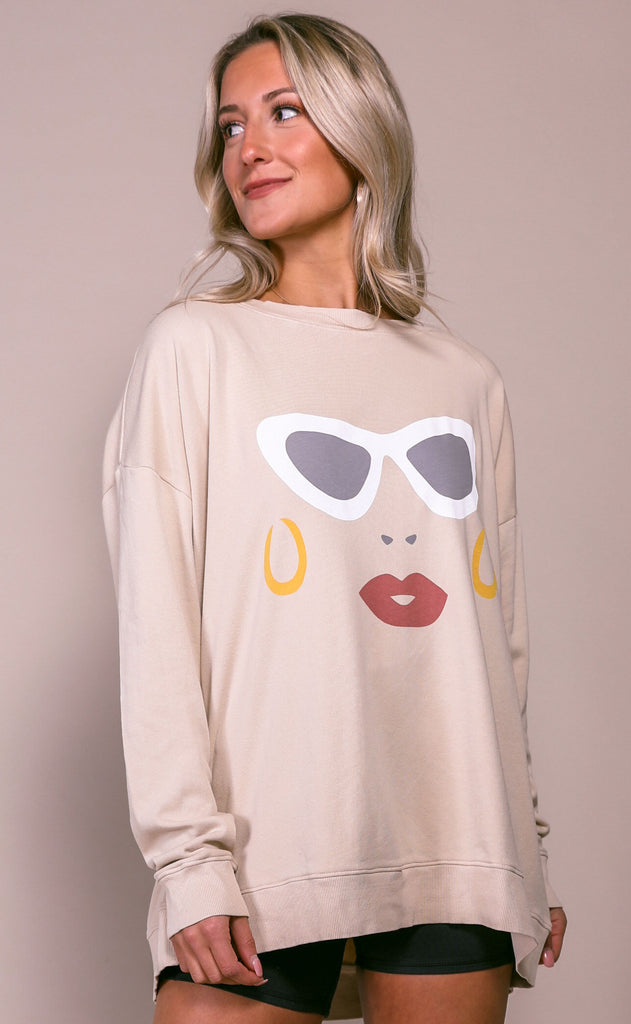 wildfox: roadtrip sweatshirt - vacay sunnies