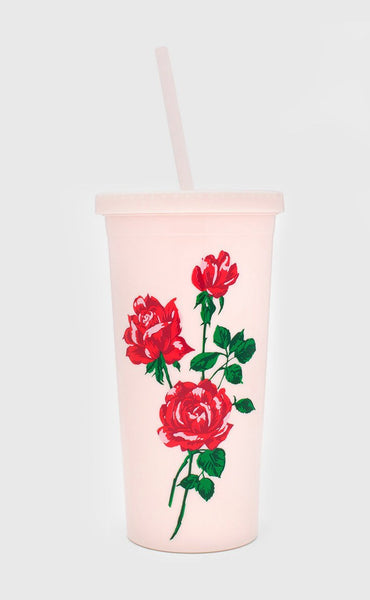 ban.do: sip sip tumbler with straw - will you accept this rose