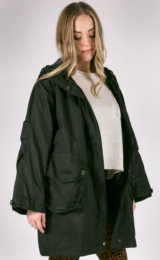 williamsburg anorak jacket - black
