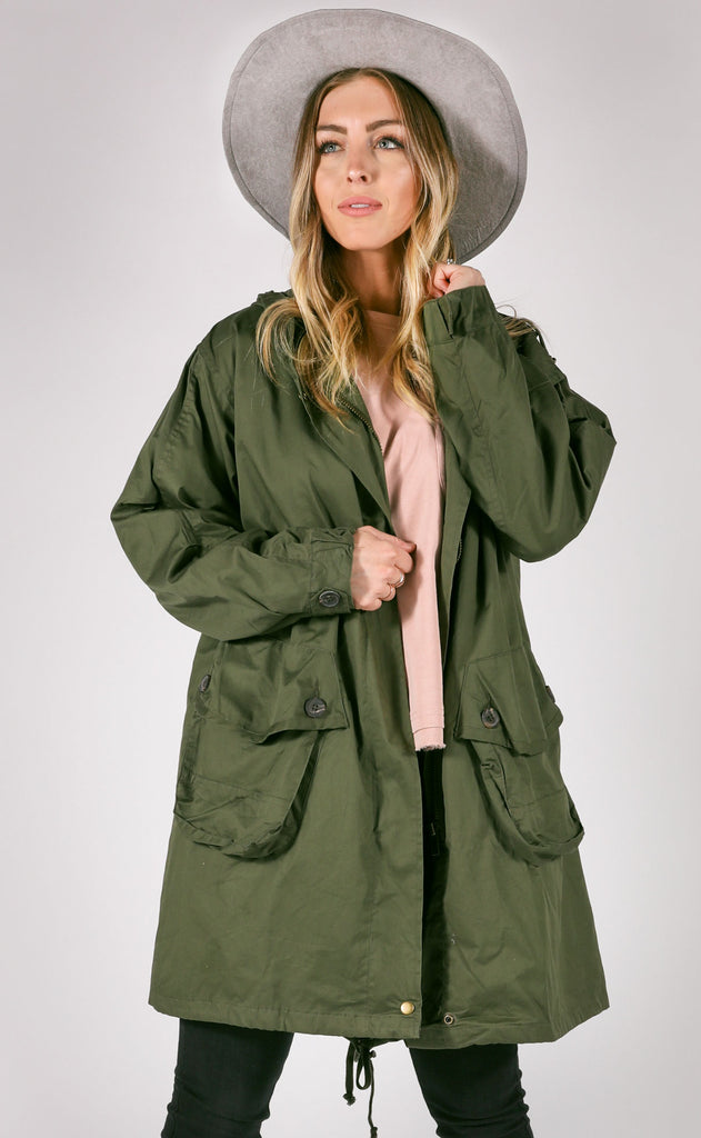 williamsburg anorak jacket - olive