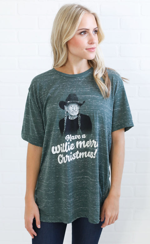 charlie southern: willie merry christmas t shirt (pre-order)