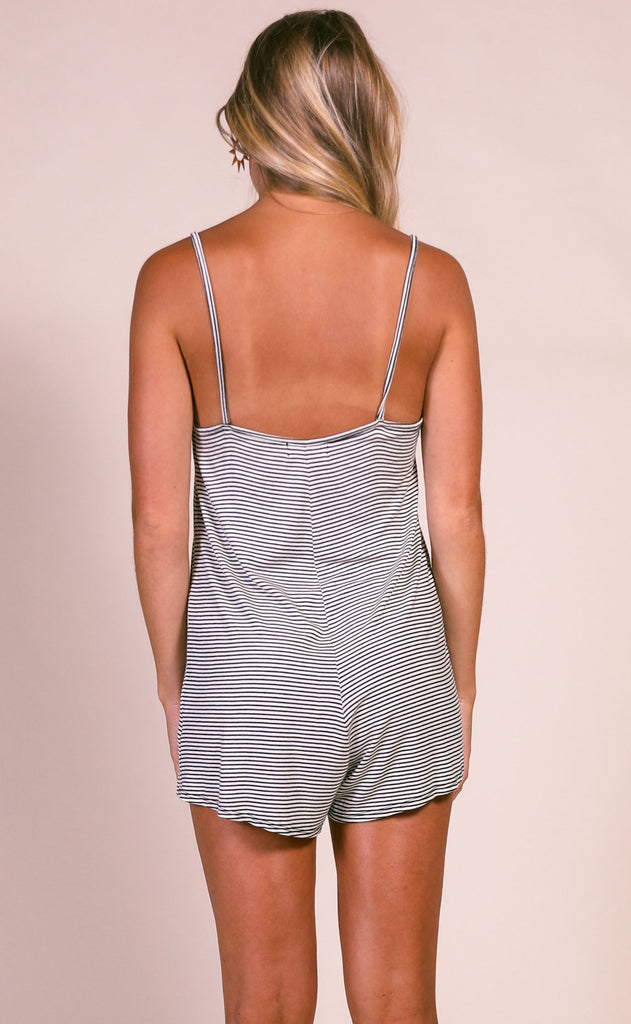 lucca: willow lounge romper - white