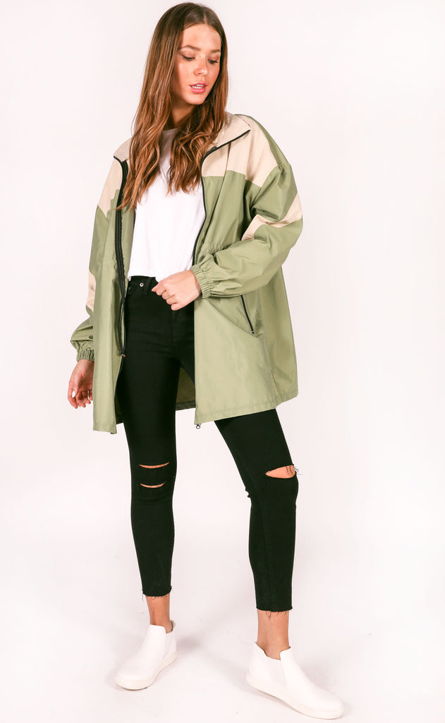 windbreaker oversized jacket