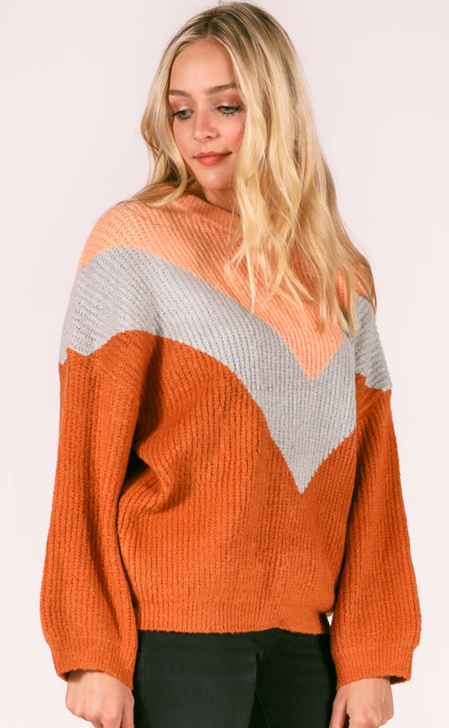 winter warmth knit sweater - butterscotch