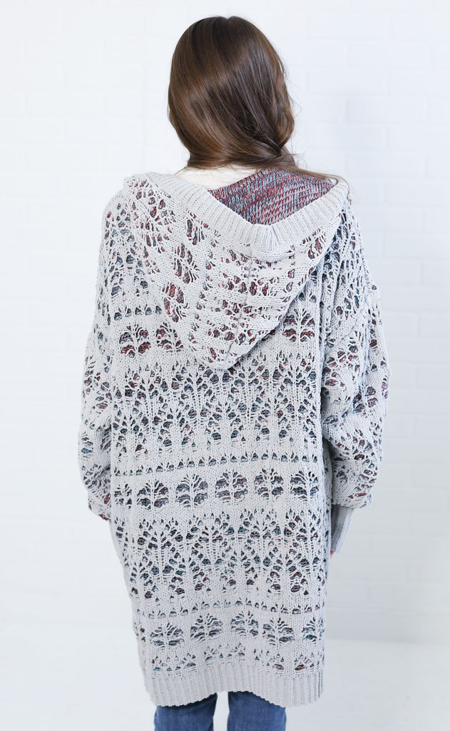 winter wonderland knit sweater - grey
