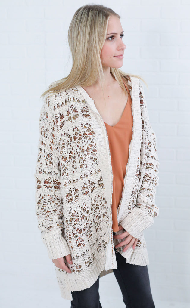 winter wonderland knit sweater - cream