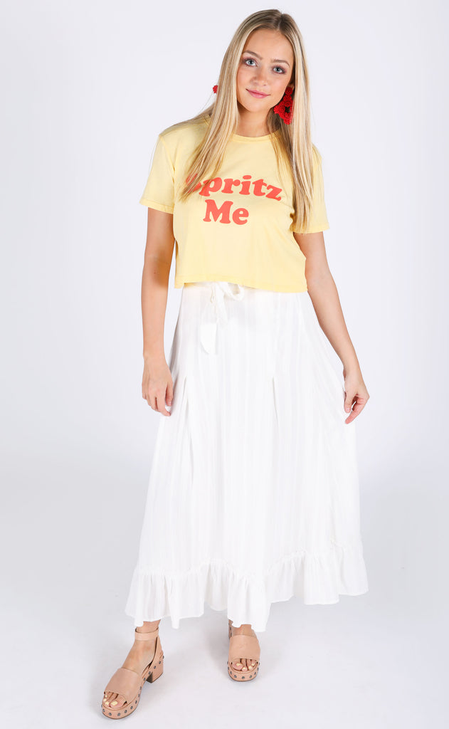 wish you were here midi skirt