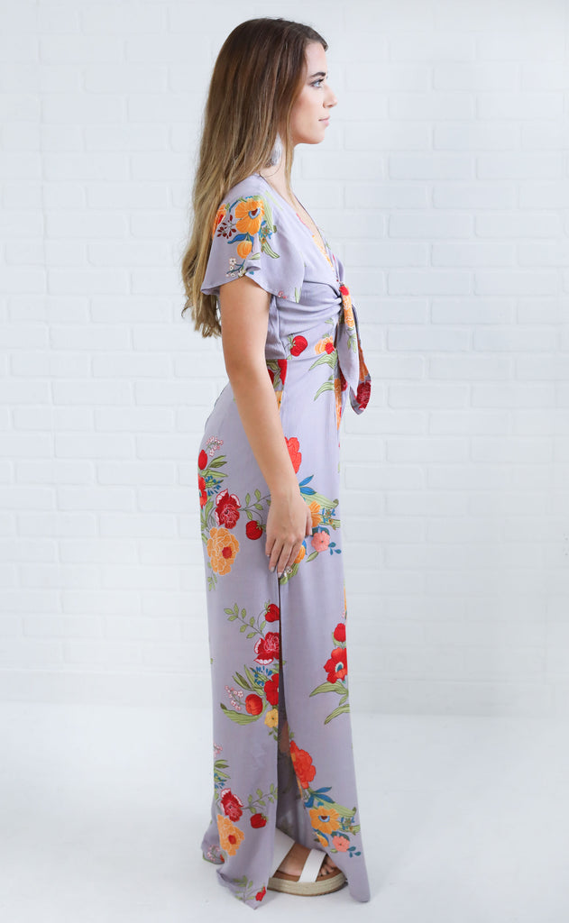 wishing well floral jumpsuit