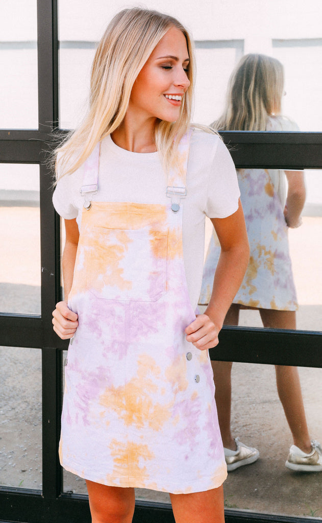 woodstock tie dye dress
