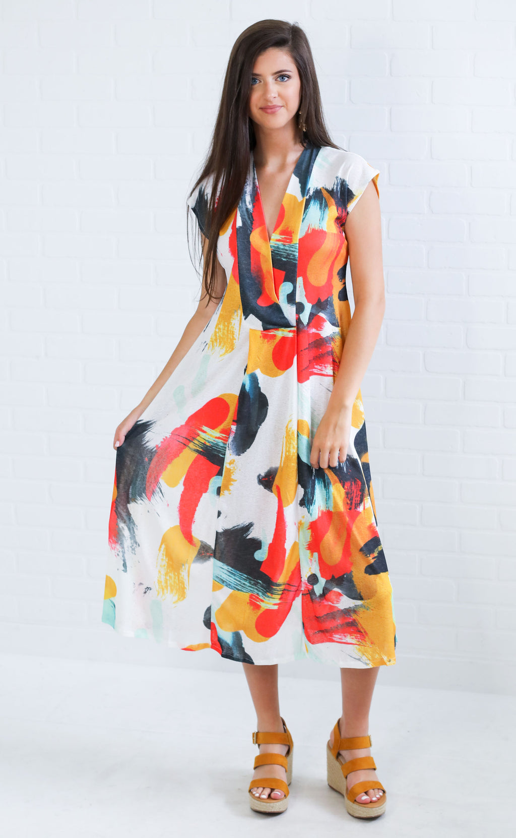 work of art printed dress