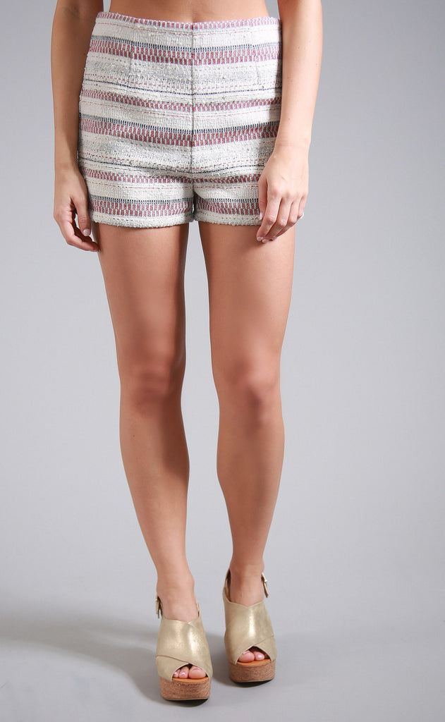 woven wonders striped shorts