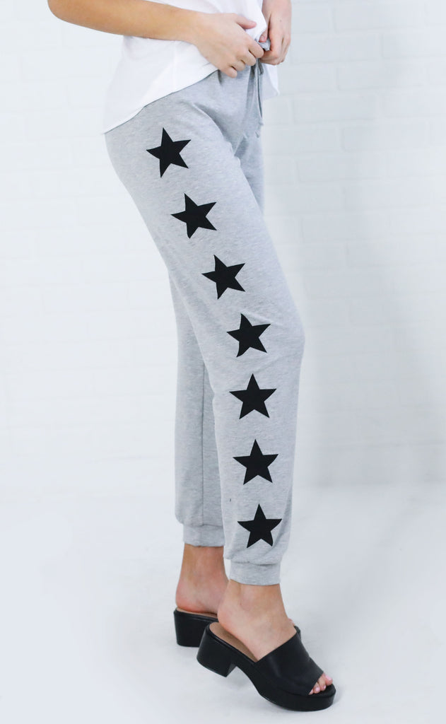 you're a star printed joggers