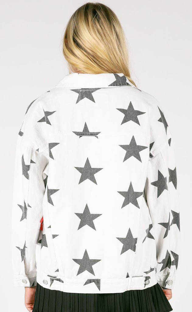 you're a star denim jacket - ivory