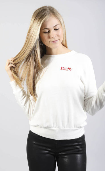 daydreamer: ziggy pocket sweatshirt - white