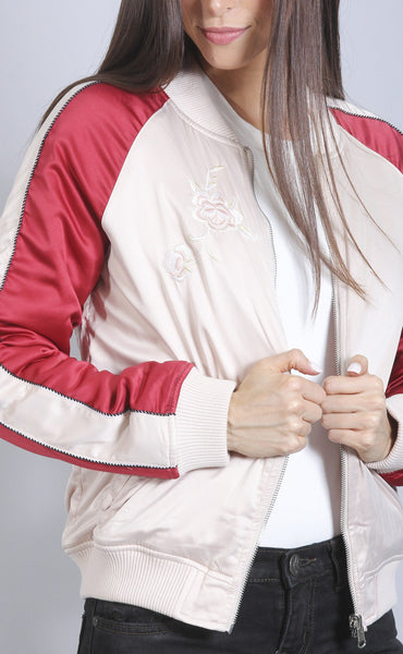 zip it good floral bomber jacket