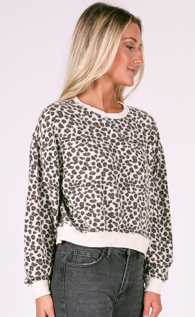z supply: the brushed leopard pullover