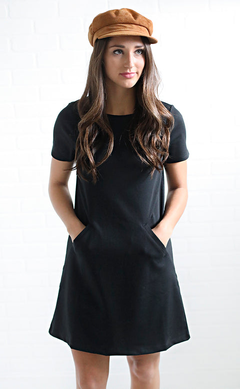 z supply: the chloe ponte dress - black