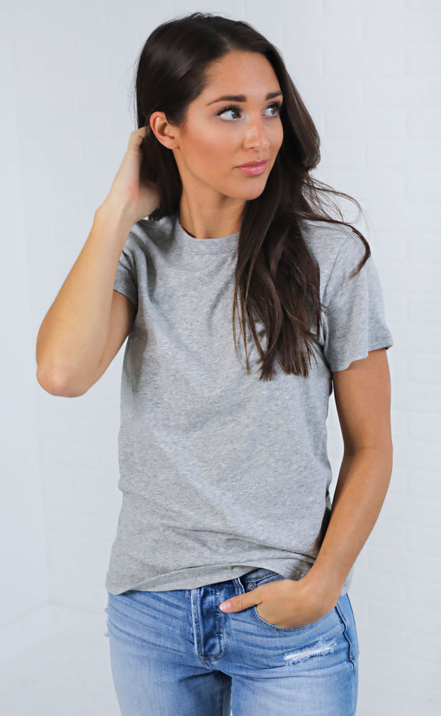 z supply: the core crew tee - grey