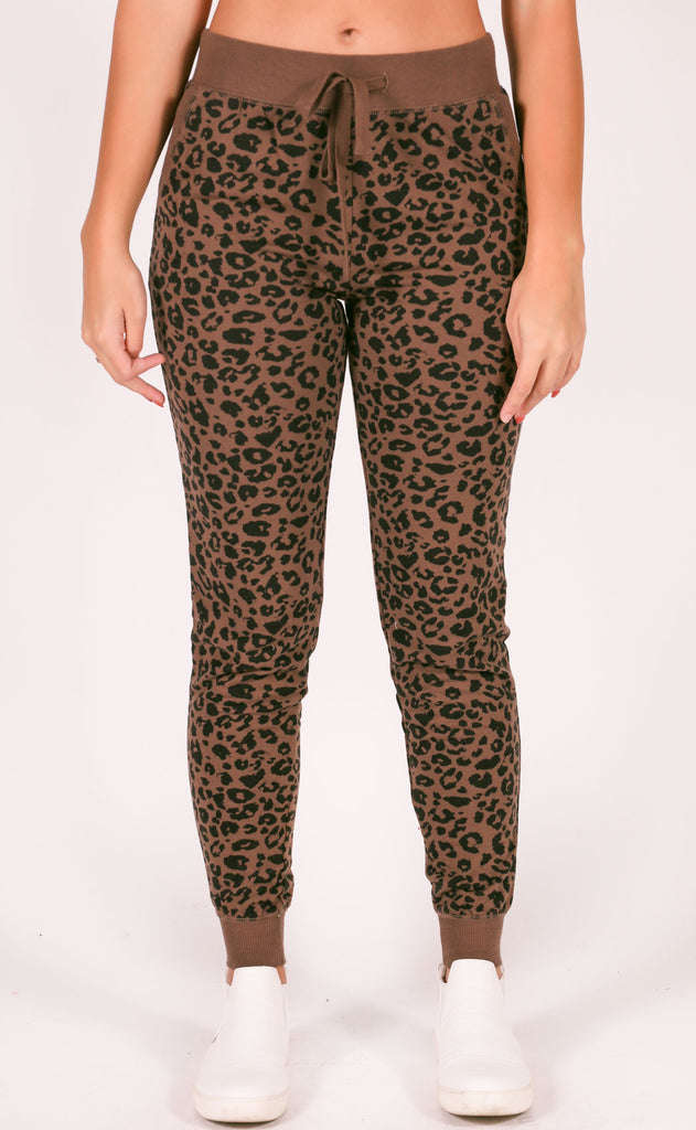 z supply: the leopard jogger - french roast