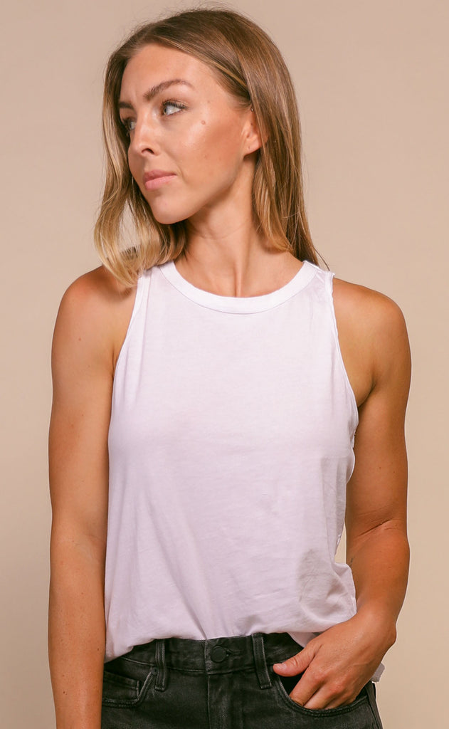z supply: organic cotton muscle tank - white