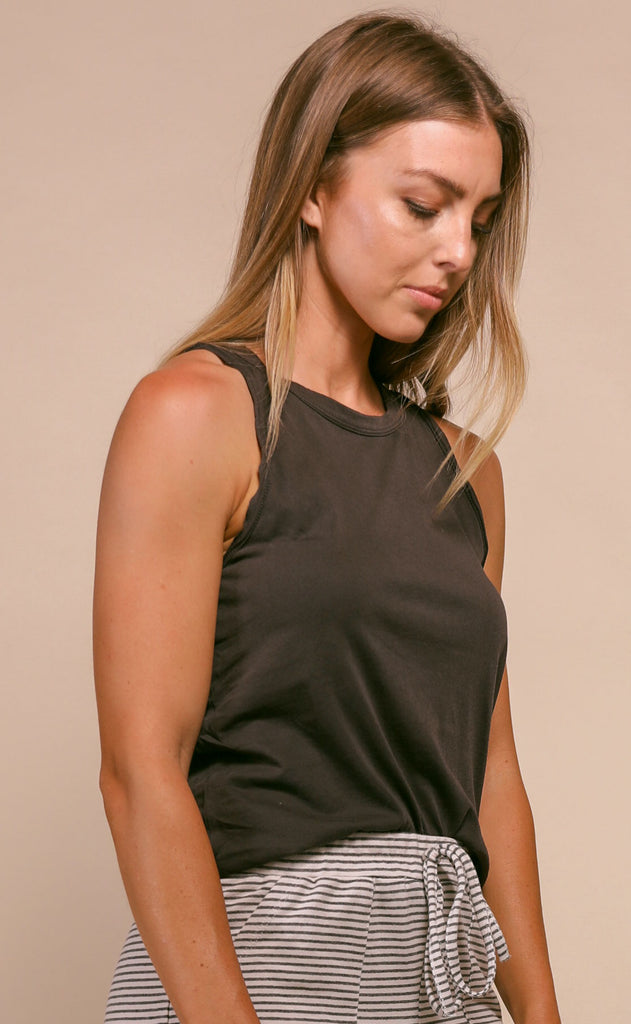 z supply: organic cotton muscle tank - graphite
