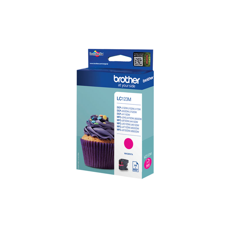 Brother LC 123M Magenta 600 sider